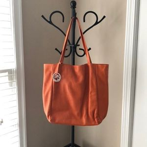 43d7cd06f2ec TOSCA BLU orange leather bag